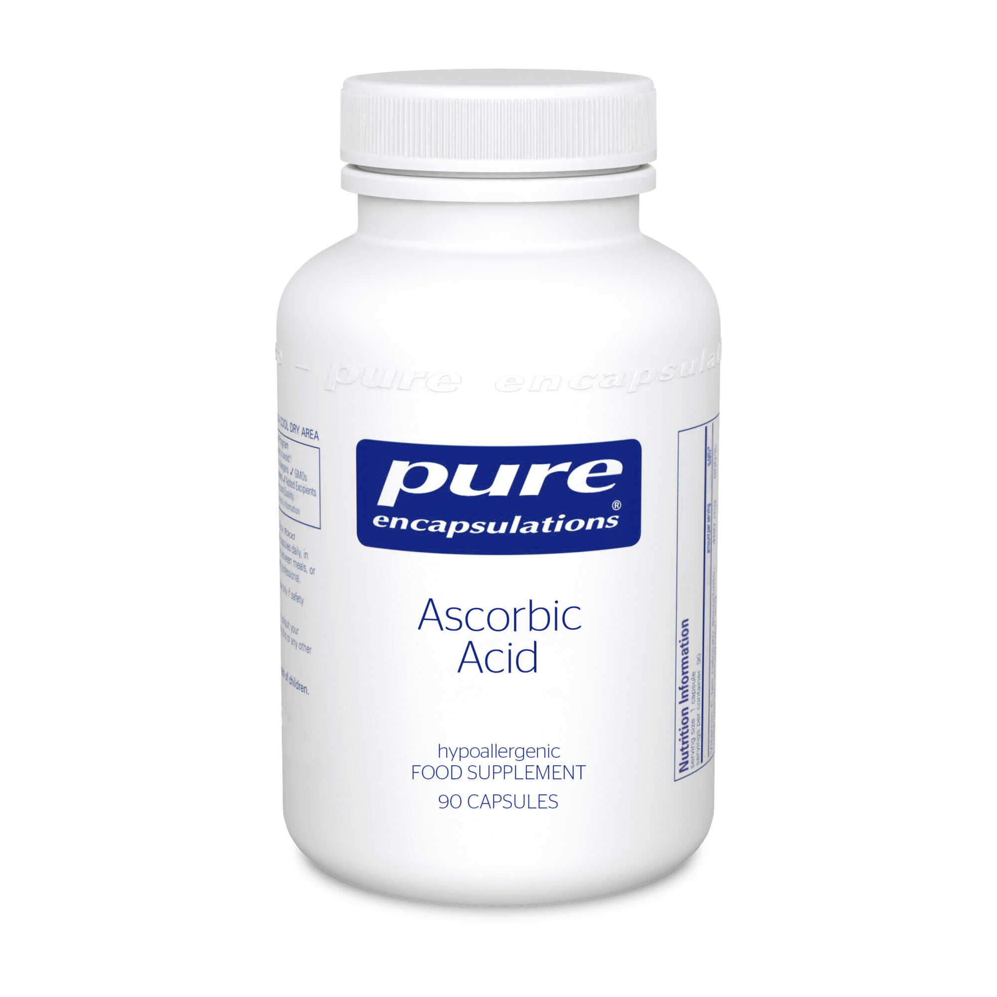 Ascorbic Acid 1000mg 90caps (PureEncap)
