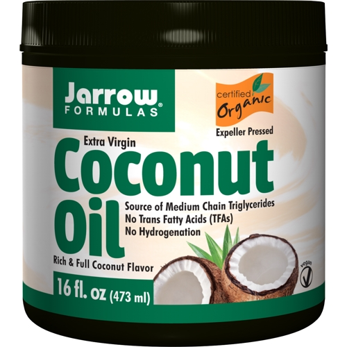 Coconut Oil (Organic, Extra Virgin) 473ml (Jarrow)