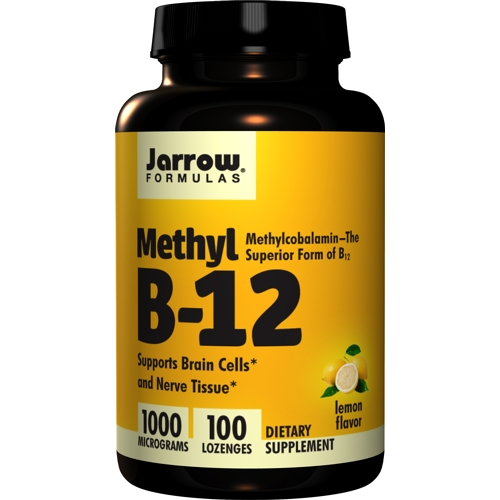 Methyl B-12 Methylcobalamin 1000mcg 100 Lozenges (Jarrow)