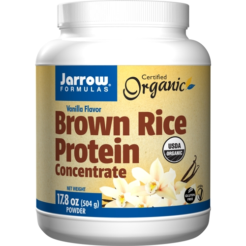 Brown Rice Protein Vanilla (Organic) 504g (Jarrow)