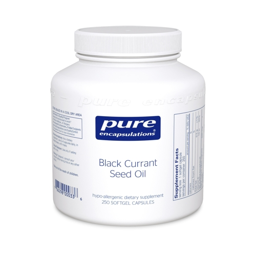 Black Currant Seed Oil 500mg 250caps (PureEncap)